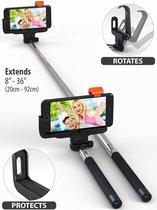 Ntech - Selfie Stick Draadloos Met Bluetooth voor iPhone 7 / 7 Plus / 6 / 6S / 6 Plus / 6S Plus / SE / 5S / 5C / - Zwart