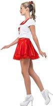 SMIFFYS - Grease cheerleader kostuum voor vrouwen - M - Volwassenen kostuums