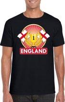 Zwart Engels kampioen t-shirt heren - Engeland supporters shirt L