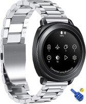 RVS Horloge Band Voor Samsung Gear Sport - Watchband - Strap Armband - Metalen Armband - Zilver Kleurig
