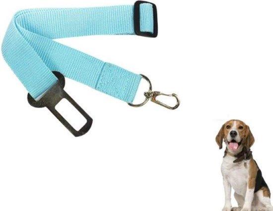 Hondengordel - Hondenautogordel - Auto Riem Hond – Autogordel voor Huisdieren – Auto Veiligheidsgordel Dier – Gordel Riem - Blau
