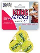 Kong Air Squaker Tennisbal - Hondenspeelgoed - XS - Ø5 cm - Geel