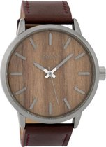 OOZOO Collections C9258 Donkerbruin Oak 45mm
