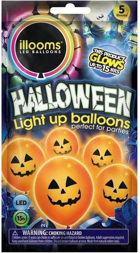 Illooms halloween pompoen 23 cm 5 stuks