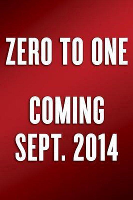 Boek cover Zero to One van Peter Thiel (Hardcover)