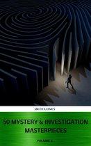 Boek cover 50 Mystery & Investigation Masterpieces (Active TOC) (ABCD Classics) vol: 2 van Mark Twain (Onbekend)