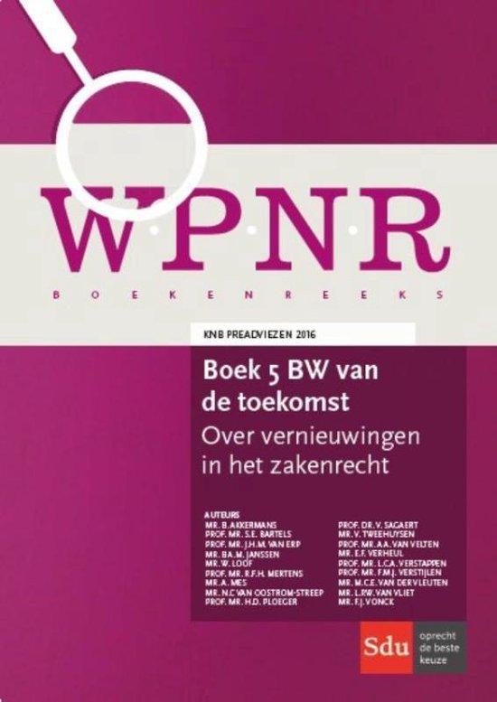WPNR Boekenreeks - Boek 5 BW van de toekomst - Akkermans |