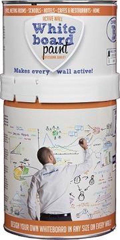 Transparante, Professionele Whiteboardverf Active Wall, Zijdeglanzend 0,5 liter - Active Wall