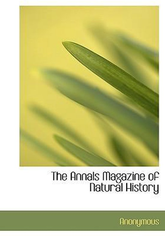 The Annals Magazine of Natural History