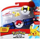 Pokémon Clip 'N Go Poké Ball Gordelset - Premier Ball, Ultra Ball & Pikachu #3 5 cm