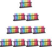 relaxdays 60 x reageerbuis shotglaasjes - shot glaasjes kleurrijk - 4 cl kunststof