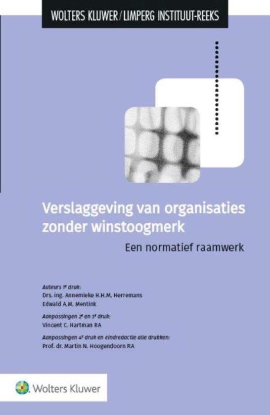 Verslaggeving van organisaties zonder winstoogmerk - Annemieke H.H.M. Herremans | Fthsonline.com
