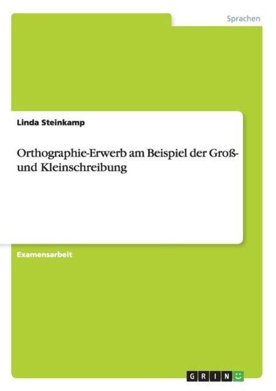 Orthographie-Erwerb am Beispiel der Gross- und Kleinschreibung