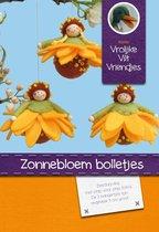DIY wolvilt pakket: Zonnebloem bolletjes