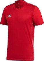 Adidas Core 18  Sportshirt Heren - Power Red/White - Maat M