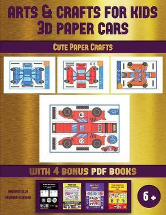 Cute Paper Crafts (Arts and Crafts for kids - 3D Paper Cars)