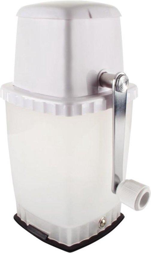 HorecaTraders IJscrusher met vacuümbasis | wit