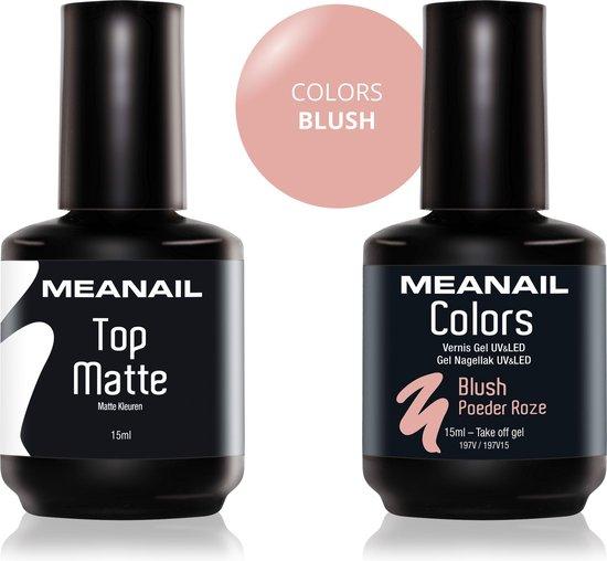 MEANAIL®  - Set van 2 - Top Coat/Blush - 15ml - Gel nagellak