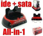 All-in-One SATA & IDE HDD Dock met eSATA en Card Readers