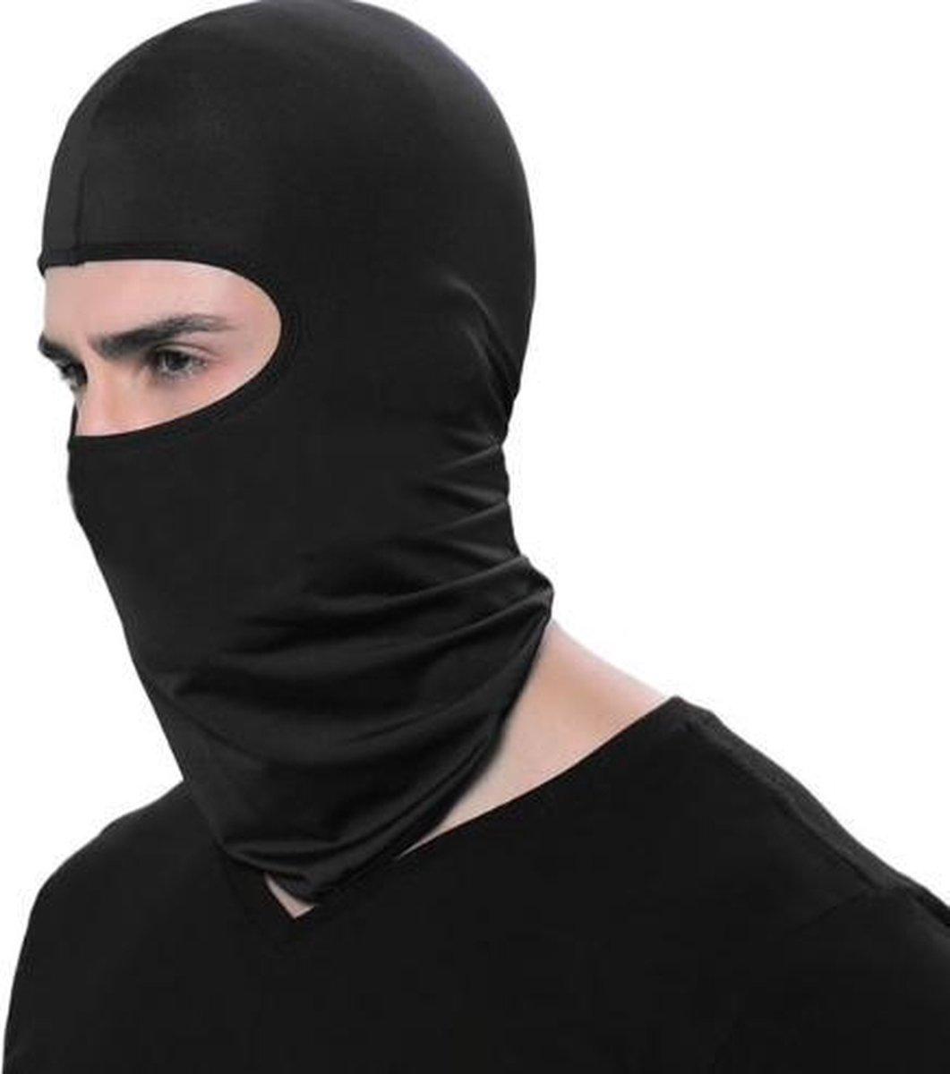 Bivakmuts Balaclava - Zwart - Bivak Muts Nekwarmer - One Size/Unisex  - Gezichtsmasker voor o.a.  Sk