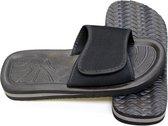 Bad - Slippers – Unisex – Maat 47 – Zwart / Grijs