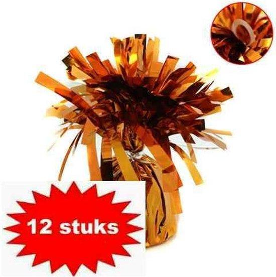 Ballon gewichtje 170 gr koper - oranje 12 stuks