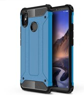 Let op type!! Magic Armor TPU + PC combinatie Case voor de Xiaomi Mi Max 3 (blauw)