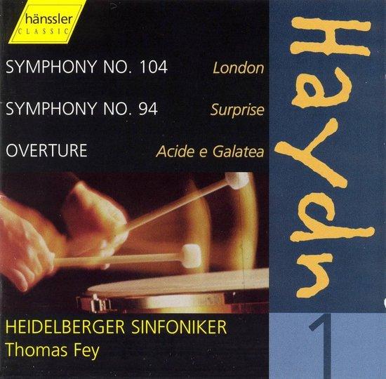 "Haydn: Complete Symphonies, Vol. 1 -  Nos. 104 (""London""), 94 (""Surprise""); Acide e Galatea Overture"