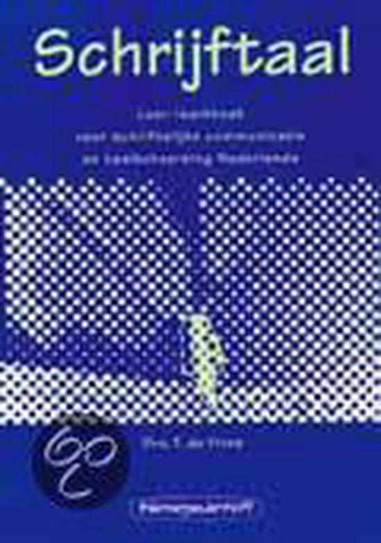 Schrijftaal Leer-/werkboek - T. de Vries | Readingchampions.org.uk