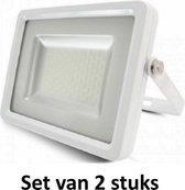 20W LED Bouwlamp| Wit |4000K (Koel  Wit)|vervangt 100W halogeen | Set van 2