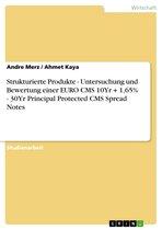 Strukturierte Produkte - Untersuchung und Bewertung einer EURO CMS 10Yr + 1,65% - 30Yr Principal Protected CMS Spread Notes