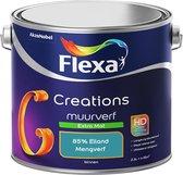 Flexa Creations Muurverf - Extra Mat - Mengkleuren Collectie - 85% Eiland  - 2,5 liter