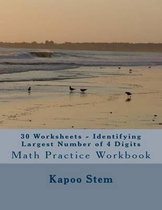 30 Worksheets - Identifying Largest Number of 4 Digits