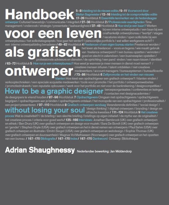 Cover van het boek 'Handboek voor een leven als grafisch ontwerper'