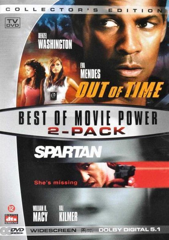 Cover van de film 'Out Of Time/Spartan'