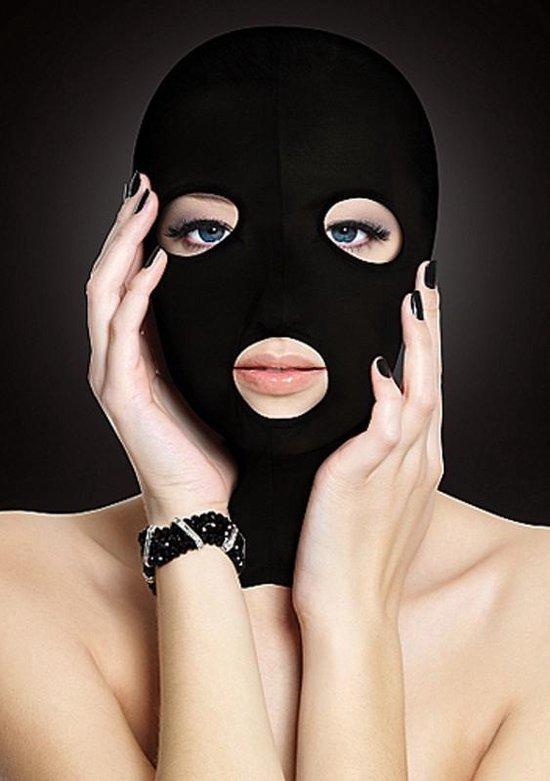 OUCH! - Subversie Masker voor Gezichts Bedekking met Open Mond en Ogen Licht Transparant – Zwart