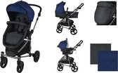 XAdventure Inspire Combi Kinderwagen - Jeans - Blauw - Inclusief autostoel