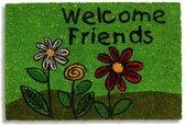 Kokosmat met print / Welcome Friends 401 / 40 cm x 60 cm /