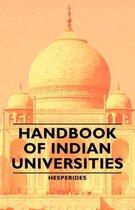 Handbook Of Indian Universities