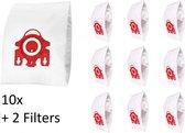 10x Stofzuigerzakken Voor Miele FJM 3D Compact C1 / C2 Complete C1 - Met 2 Stuks Filter