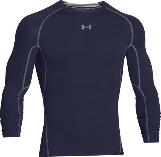Under Armour HG Armour Heren Sportshirt - Midnight Navy - Maat S