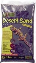 Exo Terra Woestijnzand - Bodembedekking - 4,5 kg -Zwart