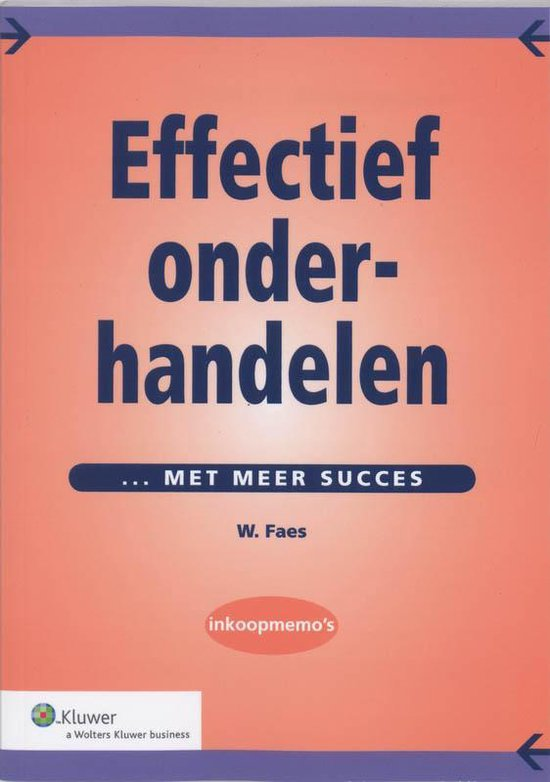 Cover van het boek 'Effectief onderhandelen / druk 1'