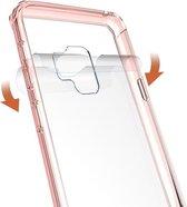 Let op type!! Voor Galaxy S9 acryl + TPU dekken schokbestendige transparant Armor beschermende back cover(Magenta)