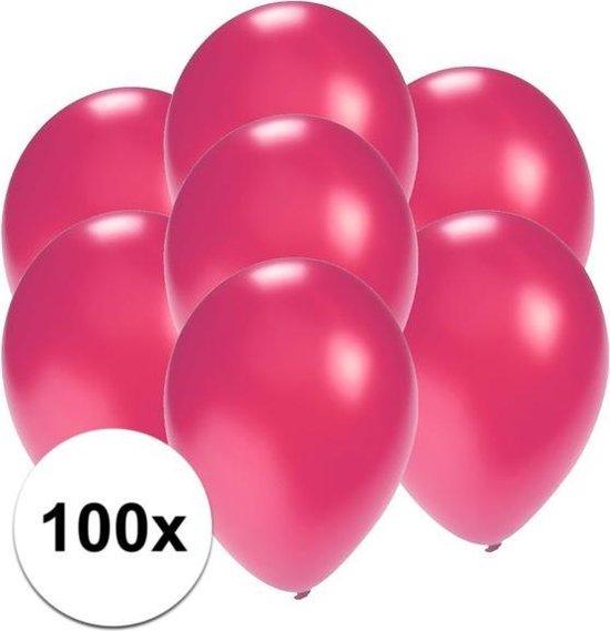 Kleine ballonnen roze metallic 100 stuks