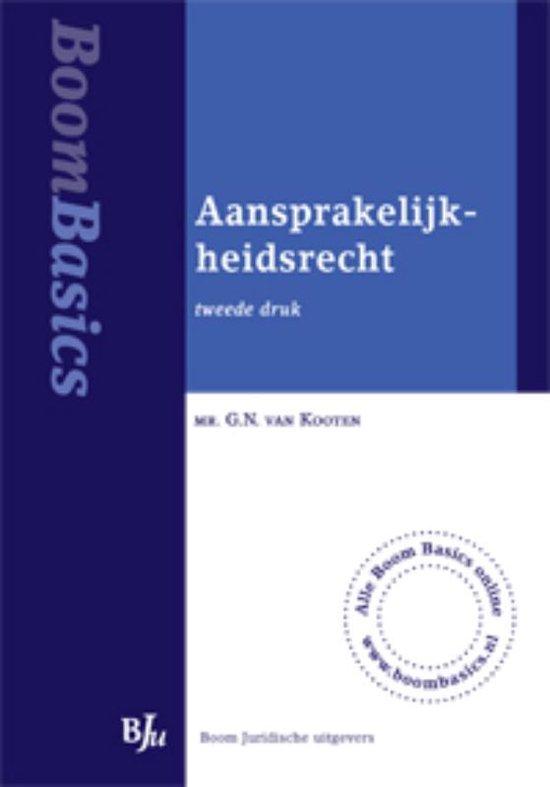 Aansprakelijkheidsrecht - G.N. van Kooten |