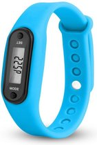 Digitale stappenteller | calorieteller | smal | licht blauw