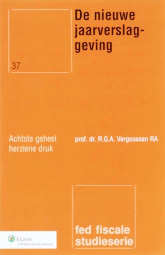De nieuwe jaarverslaggeving - R.G.A. Vergoossen pdf epub
