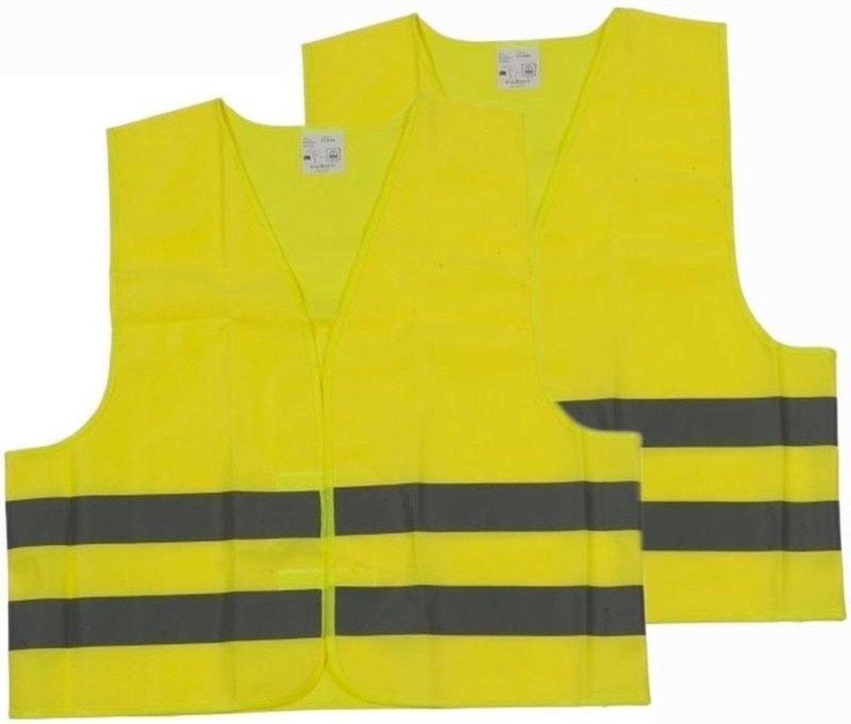 Veiligheidshesjes - Geel - 2 stuks voor volwassenen