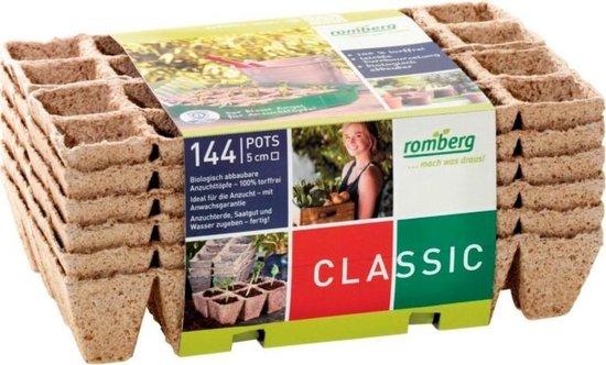 Kokos potjes vierkant 5 cm - biologisch afbreekbaar en turfvrij - set van 144...